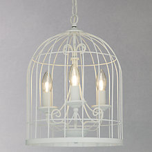 Buy John Lewis Beatrice Bird Cage Ceiling Pendant, Ivory Online at johnlewis.com