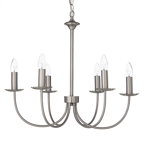 Buy John Lewis Mirabel Multi-arm Ceiling Light, Satin Nickel, 6 Arm Online at johnlewis.com