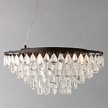 Buy John Lewis Roberta Flat Resto Pendant, 5 Light Online at johnlewis.com