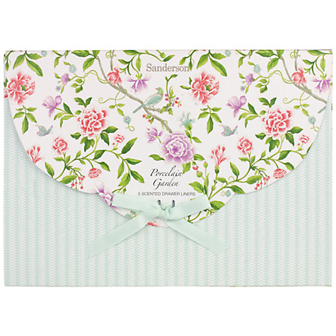 Buy Sanderson Porcelain Gardens Drawer Liners, Set of 5 Online at johnlewis.com