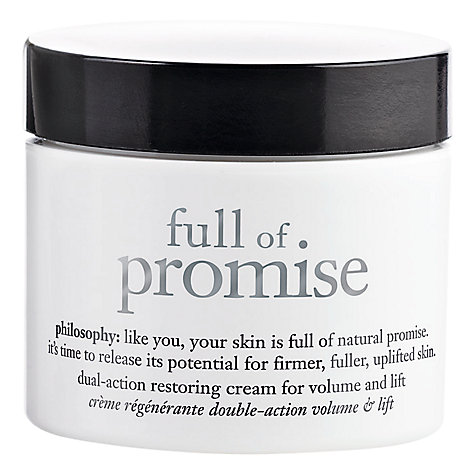 Buy Philosophy Full of Promise™ Dual Action Restoring Cream, 60ml Online at johnlewis.com