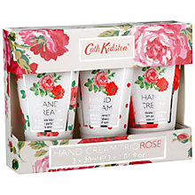 Buy Cath Kidston Rose Hand Cream Trio, 3 x 30ml Online at johnlewis.com