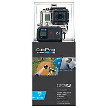Buy GoPro Hero3: Black Edition Camcorder, HD 4K, 12MP, Wi-Fi with Wireless Remote, Black Online at johnlewis.com