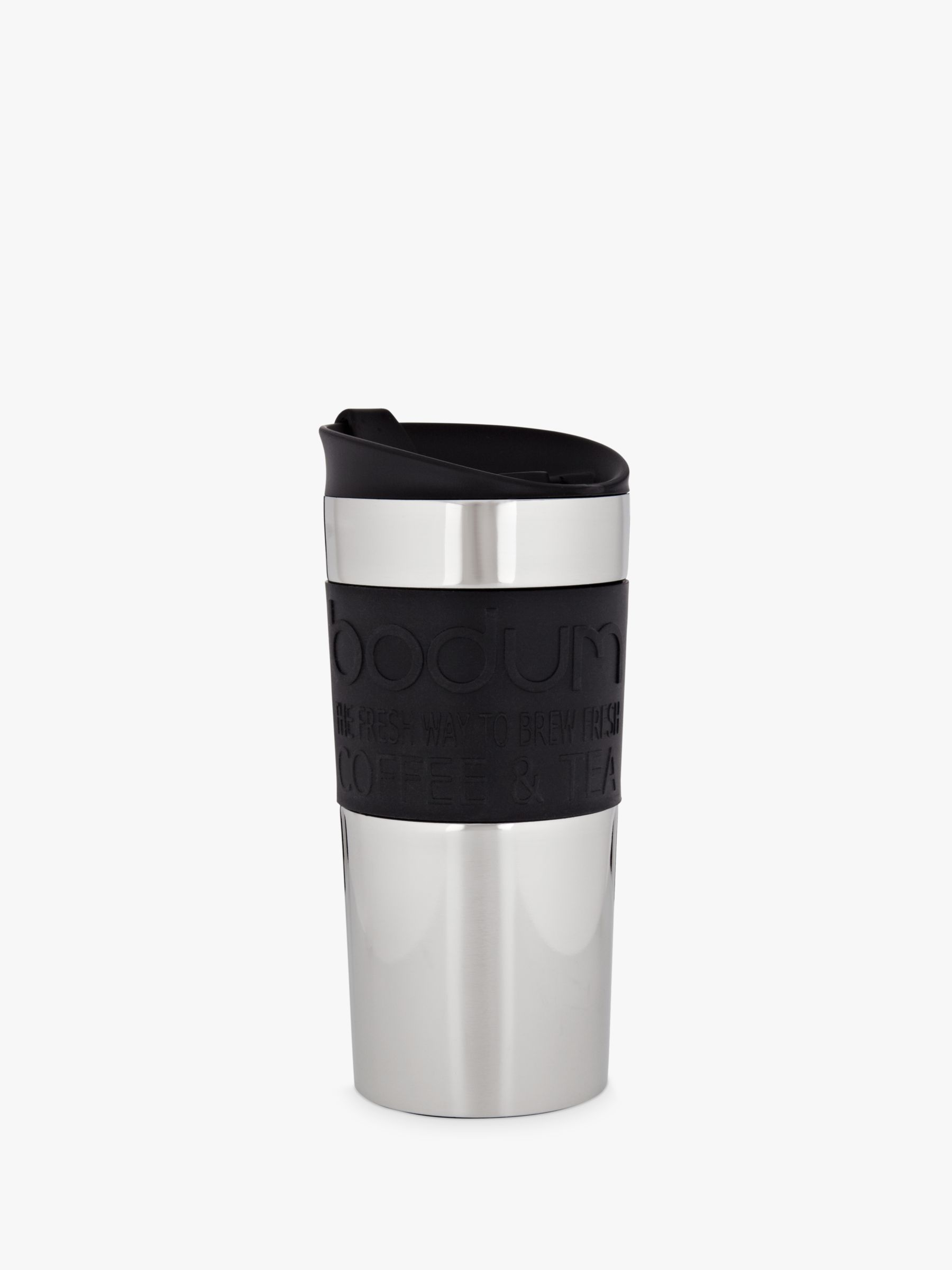 Bodum Stainless Steel Travel Mug, 0.35L, Black