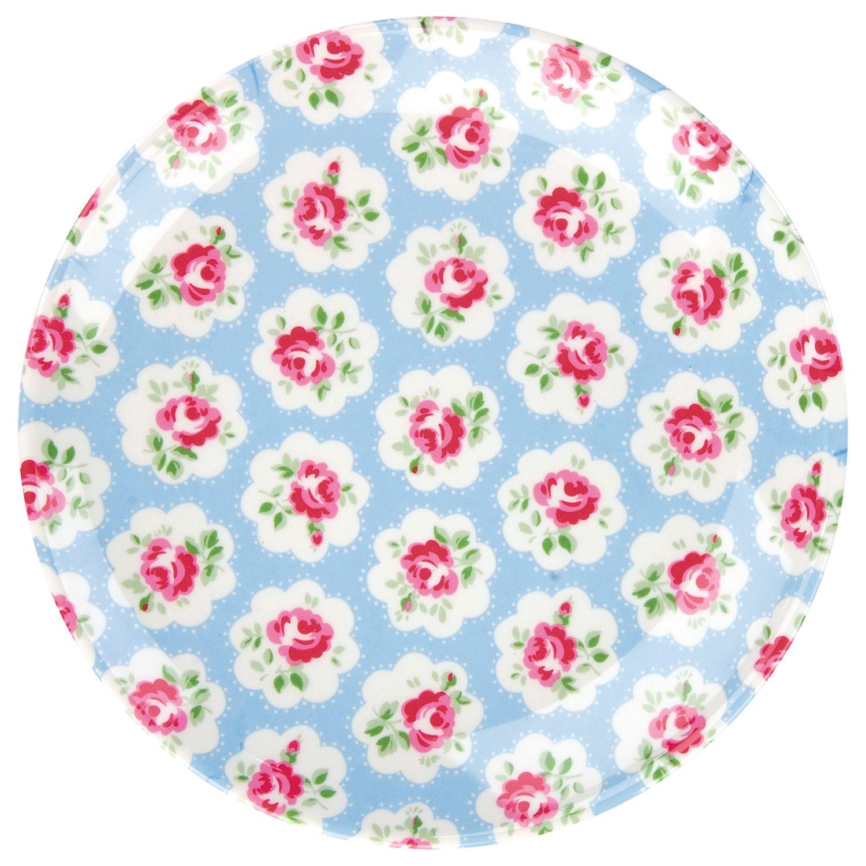 Cath Kidston Provence Rose Melamine Plate, Blue