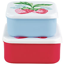 Buy Cath Kidston Sandwich Boxes, Strawberry, Set of 2 Online at johnlewis.com
