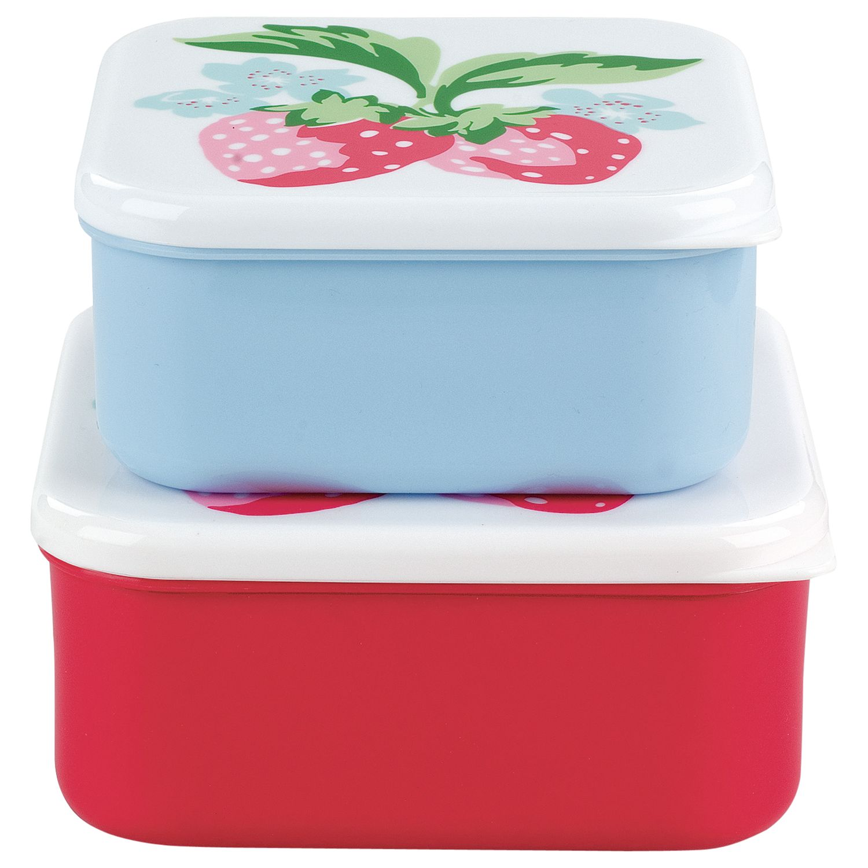 Cath Kidston Sandwich Boxes, Strawberry, Set of 2