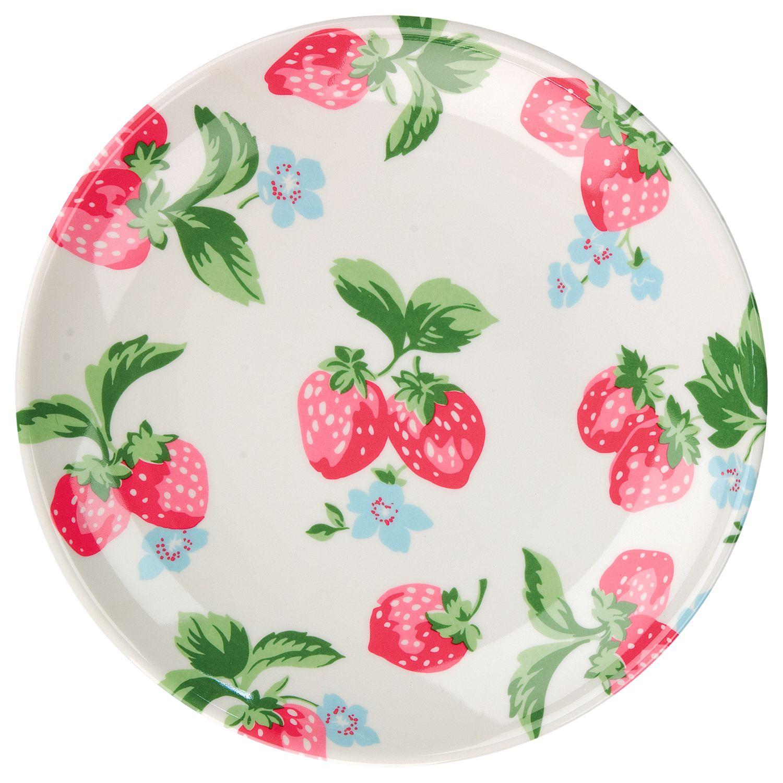 Cath Kidston Small Melamine Plate, Strawberry