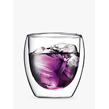 Buy Bodum Pavina Glass Double Wall Cups, Set of 2, 0.25L Online at johnlewis.com