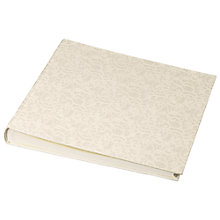 Buy John Lewis Lace Wedding Self Adhesive Photo Album, Cream Online at johnlewis.com