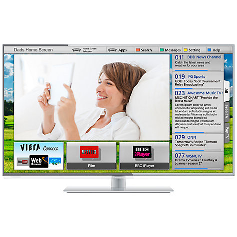 "Buy Panasonic Viera TX-L39E6B LED HD 1080p Smart TV, 39"" with Freeview HD Online at johnlewis.com"