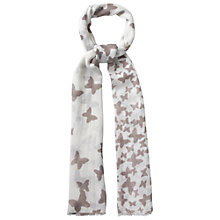 Buy White Stuff Butterfly Print Scarf, Rock Online at johnlewis.com