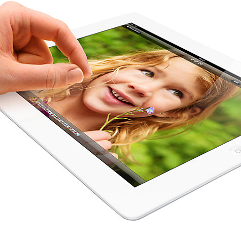 "Buy Apple iPad with Retina Display, Apple A6X, iOS 6, 9.7"", Wi-Fi & Cellular, 128GB, White Online at johnlewis.com"