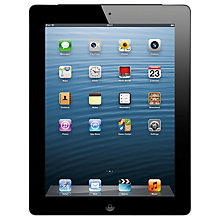 "Buy Apple iPad with Retina Display, Apple A6X, iOS 6, 9.7"", Wi-Fi, 128GB, Black Online at johnlewis.com"