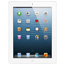 "Buy Apple iPad with Retina Display, Apple A6X, iOS 6, 9.7"", Wi-Fi, 128GB, White Online at johnlewis.com"