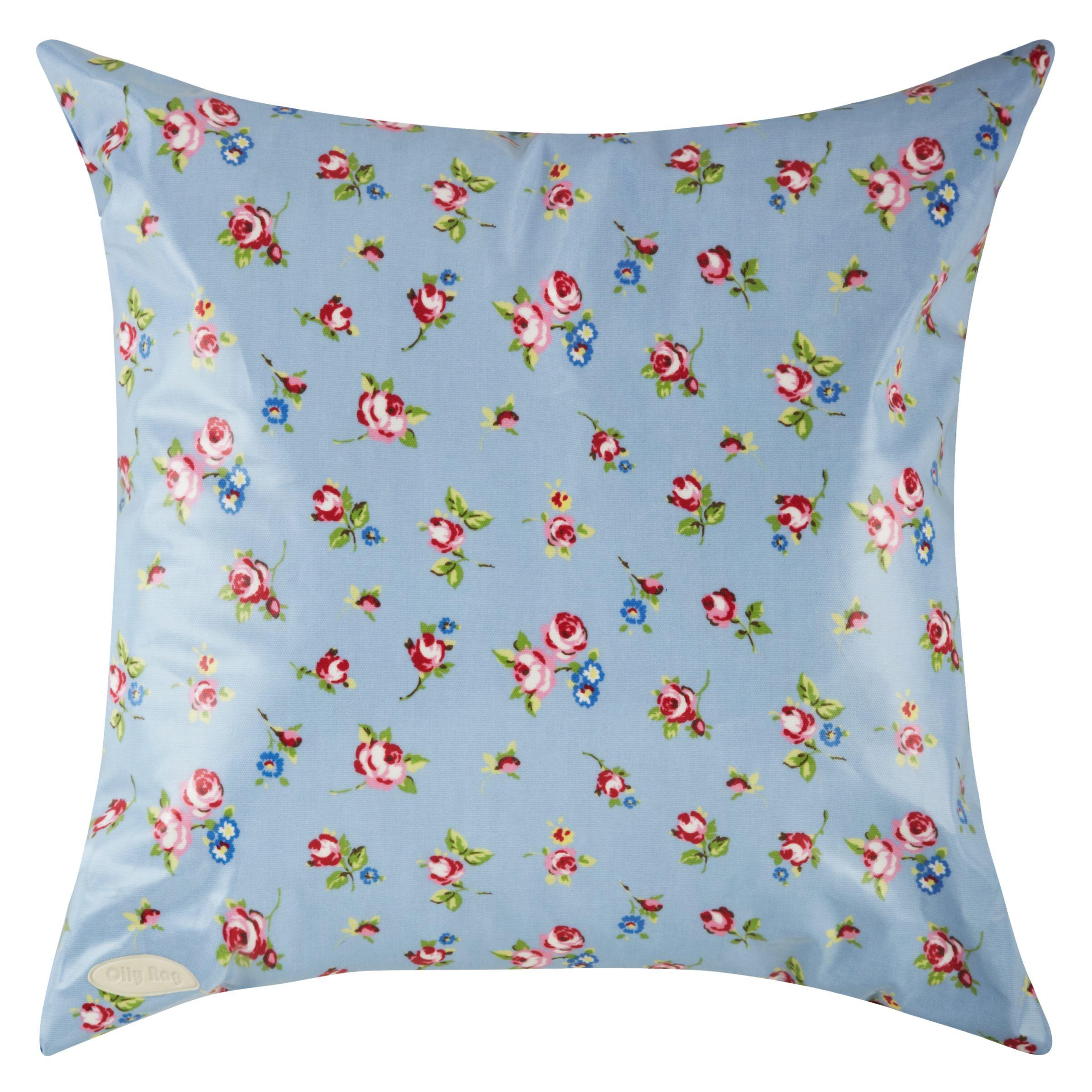 Oily Rag Rosebud Outdoor Cushion, 50 x 50cm