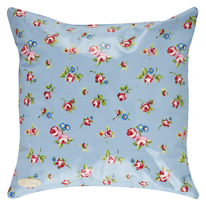 Buy Oily Rag Rosebud Outdoor Cushion, 40 x 40cm, Blue Online at johnlewis.com