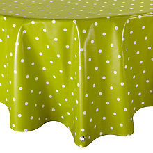 Buy Oily Rag Spotty Round Tablecloth, Dia.130cm Online at johnlewis.com
