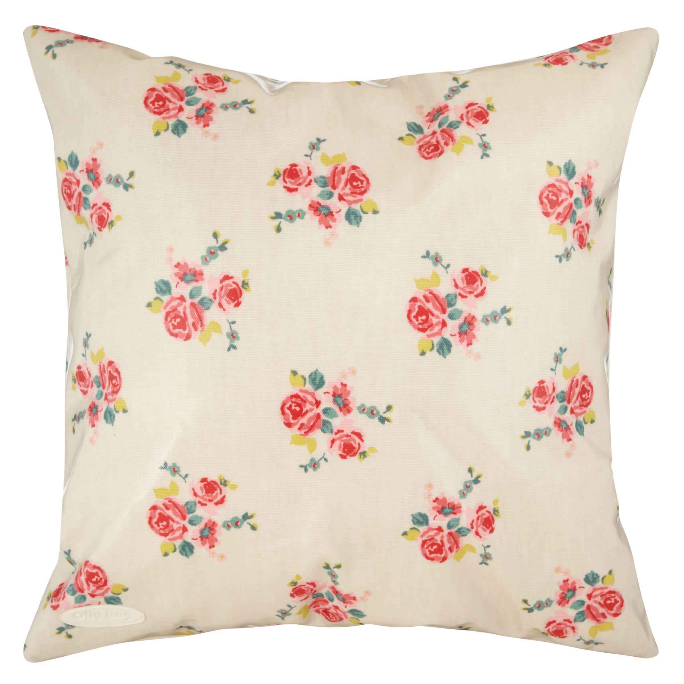 Oily Rag Vintage Floral Outdoor Cushion, 40 x 40cm