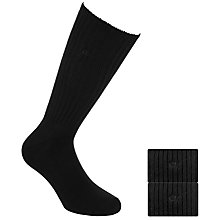 Buy Calvin Klein Cotton Rich Ribbed Socks, Pack of 2 Online at johnlewis.com
