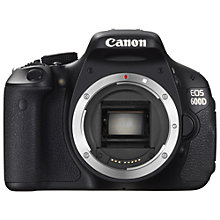 "Buy Canon EOS 600D Digital SLR Camera, HD 1080p, 18MP, 3"" LCD Screen, Body Only with 16GB + 8GB Memory Card Online at johnlewis.com"
