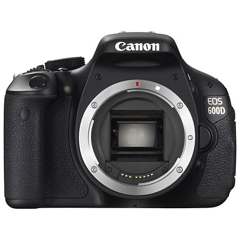 "Buy Canon EOS 600D Digital SLR Camera, HD 1080p, 18MP, 3"" LCD Screen, Body Only Online at johnlewis.com"