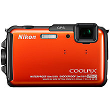 "Buy Nikon Coolpix AW110 Camera, HD 1080p, 16MP, 5x Optical Zoom, GPS, 3"" LCD Screen Online at johnlewis.com"
