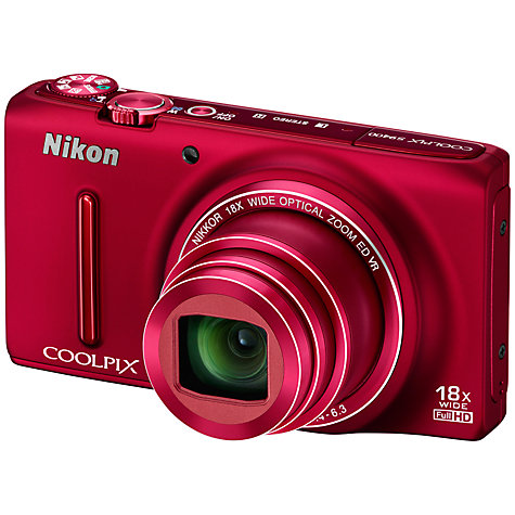 "Buy Nikon Coolpix S9400 Digital Camera, HD 1080p, 18MP, 18x Optical Zoom, 3"" OLED Screen Online at johnlewis.com"
