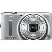 "Buy Nikon Coolpix S9500 Digital Camera, HD 1080p, 18MP, 22x Optical Zoom, Wi-Fi, 3"" OLED Screen with 16GB + 8GB Memory Card Online at johnlewis.com"