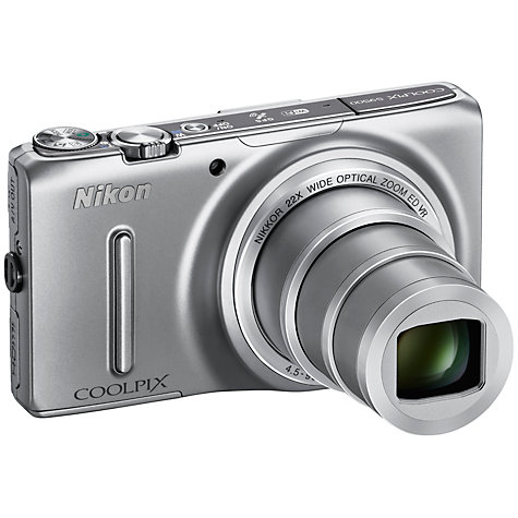 "Buy Nikon Coolpix S9500 Digital Camera, HD 1080p, 18MP, 22x Optical Zoom, Wi-Fi, 3"" OLED Screen Online at johnlewis.com"