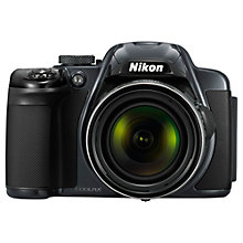 "Buy Nikon Coolpix P520 Bridge Camera, HD 1080p, 18.1MP, 42x Optical Zoom, GPS, 3.2"" Screen Online at johnlewis.com"