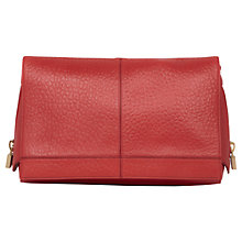Buy Reiss Cube Zip Detail Clutch Handbag, Red Online at johnlewis.com