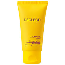 Buy Decléor Aroma Epil Post-Wax Anti-Hair Regrowth Cream, 50ml Online at johnlewis.com