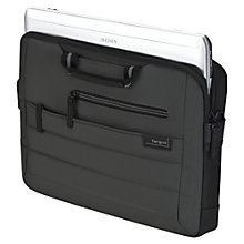 "Buy Targus Pewter 15.6"" Topload Laptop Case, Grey Online at johnlewis.com"