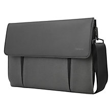 "Buy Targus Ultralife Canvas 14.1"" Laptop Case, Charcoal Online at johnlewis.com"