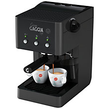 Buy Gaggia Gran Gaggia RI8323/01 Manual Espresso Coffee Machine, Black Online at johnlewis.com