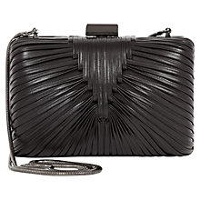 Buy Reiss Riley Woven Detail Clutch, Black Online at johnlewis.com