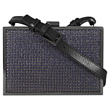 Buy Reiss Chain Mail Box Clutch Handbag, Gunmetal Online at johnlewis.com
