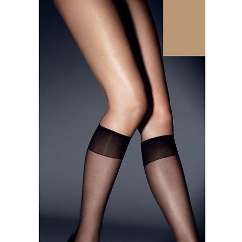 Buy John Lewis 15 Denier Ladder Resist Knee Highs, Pack of 3 Online at johnlewis.com