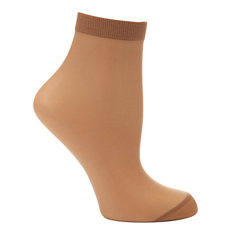 Buy John Lewis 10 Denier Ankle High Socks, Pack of 3 Online at johnlewis.com