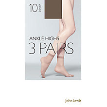 Buy John Lewis 10 Denier Knee Highs, Pack of 3 Online at johnlewis.com
