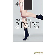 Buy John Lewis 40 Denier Knee Highs, Pack of 2 Online at johnlewis.com