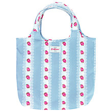 Buy Cath Kidston Foldaway Shopping Bag, Gingham Rose Online at johnlewis.com