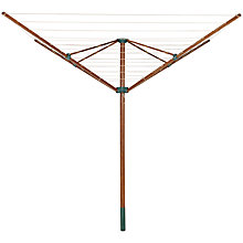 Buy Leifheit 84100 Linowood Ecoperfect Wooden Rotary Clothes Dryer Online at johnlewis.com