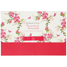 Buy Heathcote & Ivory Scented Drawer Liners, Sweet Pea & Honeysuckle Online at johnlewis.com