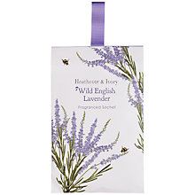 Buy Heathcote & Ivory Scented Sachet, Wild English Lavender Online at johnlewis.com