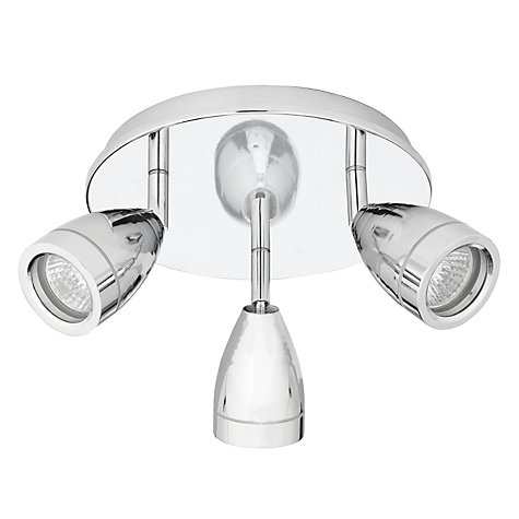 Buy John Lewis Blake Bathroom Spotlight, Chrome, 3 Light Online at johnlewis.com