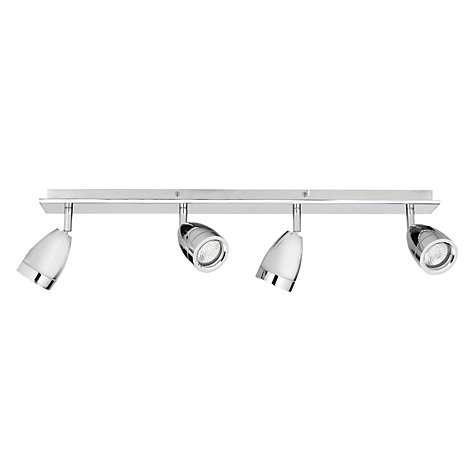 Buy John Lewis Blake Bathroom Spotlight Bar, Chrome, 4 Light Online at johnlewis.com
