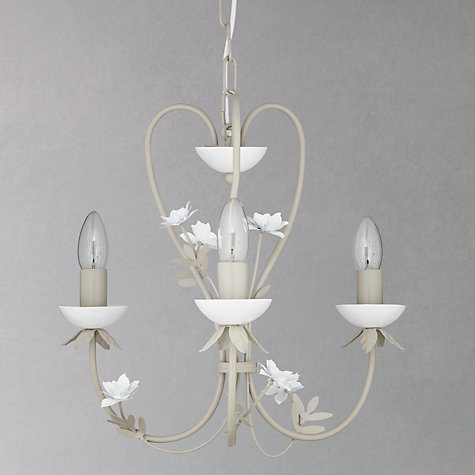 Buy John Lewis Cathy Flowery Ceiling Light, Taupe/ White Online at johnlewis.com
