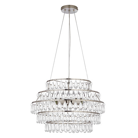 Buy John Lewis Cecily 5 Layer Pendant, Satin Nickel Online at johnlewis.com